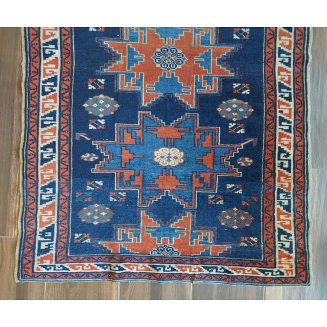 "Vintage Caucasian Kazak Rug - 3'6"" X 4'8"" - Image 5 of 9"