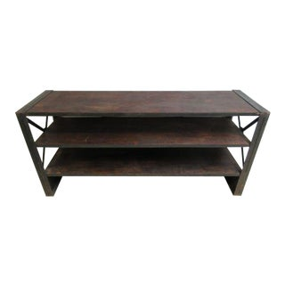 Industrial Reclaimed Steel Console For Sale