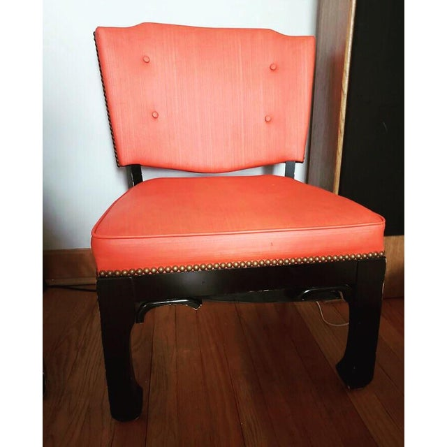 Orange Ming Style Low Slung Game Chairs- Set of 4 For Sale - Image 8 of 10