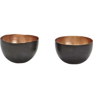 Tom Dixon Form Copper Bowls - A Pair For Sale