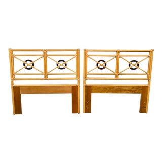 McGuire of San Francisco Twin Bamboo Headboards and Frames - a Pair For Sale