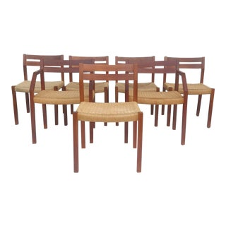 j.l. Moller Model 401 & 402 Dining Chairs - Set of 7 For Sale