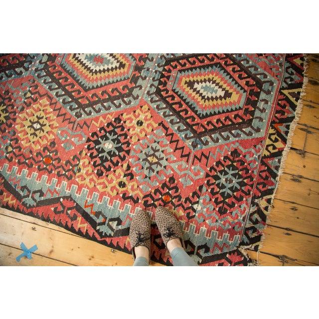 "Antique Kilim Carpet - 6'1"" x 9'1"" For Sale - Image 5 of 10"