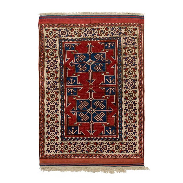 Contemporary Vintage Red Turkish Area Rug 4'x6' For Sale - Image 3 of 5