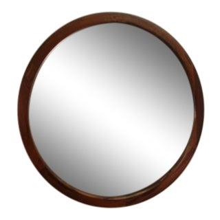 Askel Kjersgaard Rosewood Round Mid-Century Mirror For Sale