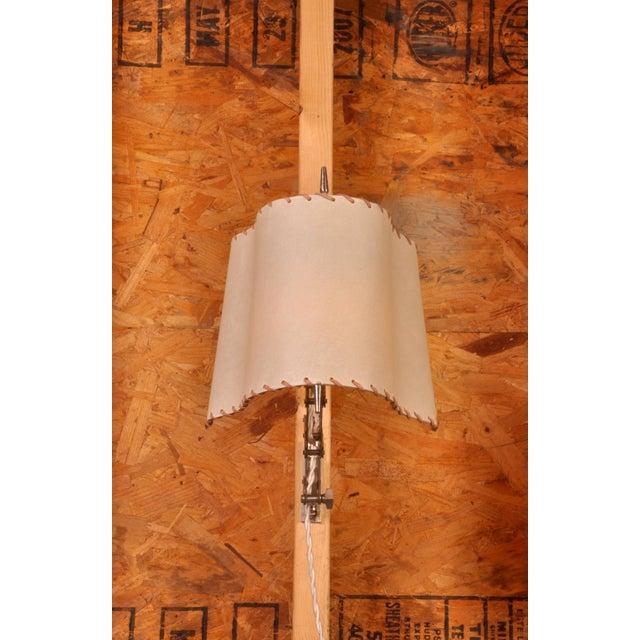 Metal Pair of Alfred Muller Nickel Accordion Lamps For Sale - Image 7 of 10