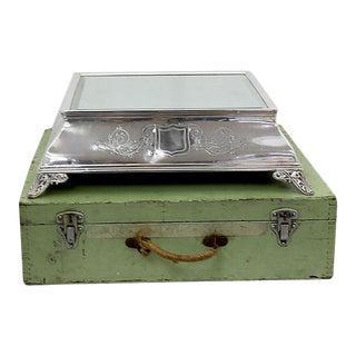Antique English Wedding Cake Stand & Box