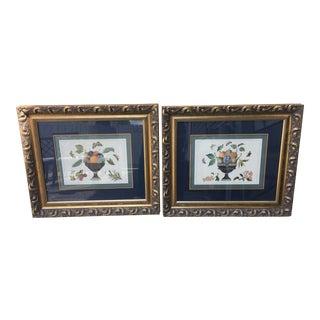 Mastercraft Interiors Gold Framed Still Life Prints - a Pair For Sale