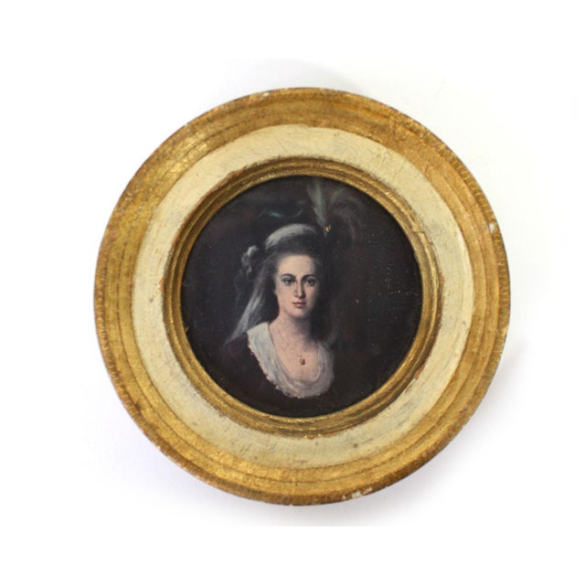 Portraiture Florentine Gilt Wood Wall Art Collection, Set of 7 For Sale - Image 3 of 13