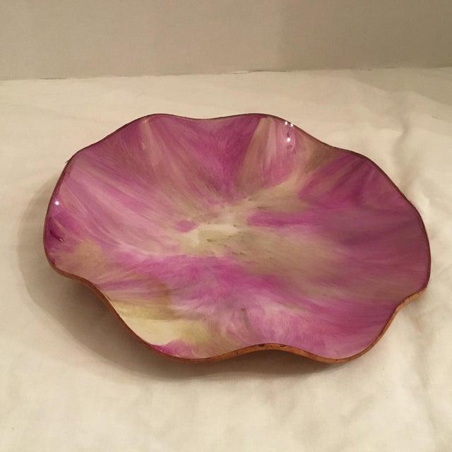 Crystal Over Animal Hide Platter For Sale - Image 4 of 11
