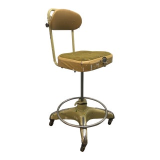 1980s Vintage Industrial Drafting / Artist Stool by Globe For Sale