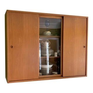 Mid Century Modern Wall China Cabinet For Sale