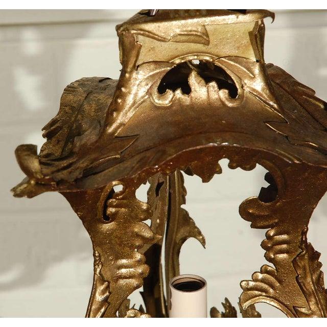 Pair of Venetian Style Tole Lantern Pendants - Image 7 of 8