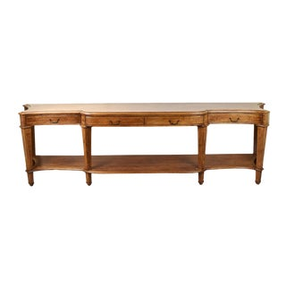 Vintage Mahogany Banded Inlay Breakfront Console For Sale