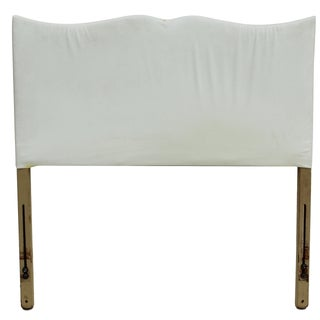 Hollywood Glam Scalloped Twin Headboard For Sale
