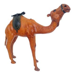 Vintage Brown Leather Camel For Sale