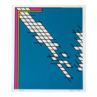 1970s Nicholas Krushenick Tailgate Hand Signed Screenprint For Sale