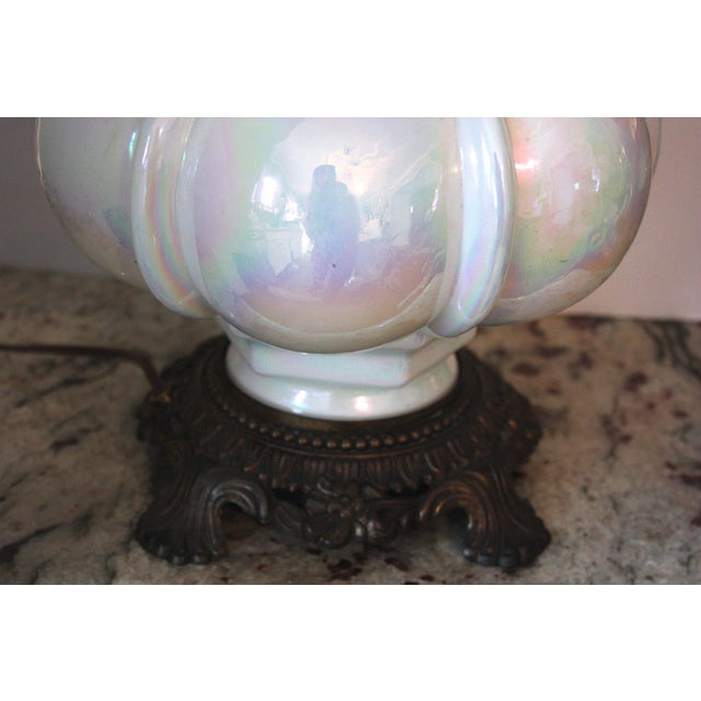 Mid-Century Opalescent Lamp - Image 4 of 4