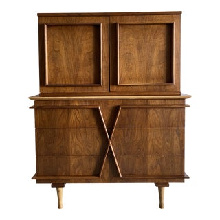 Mid-Century Gentleman's Highboy Chest For Sale
