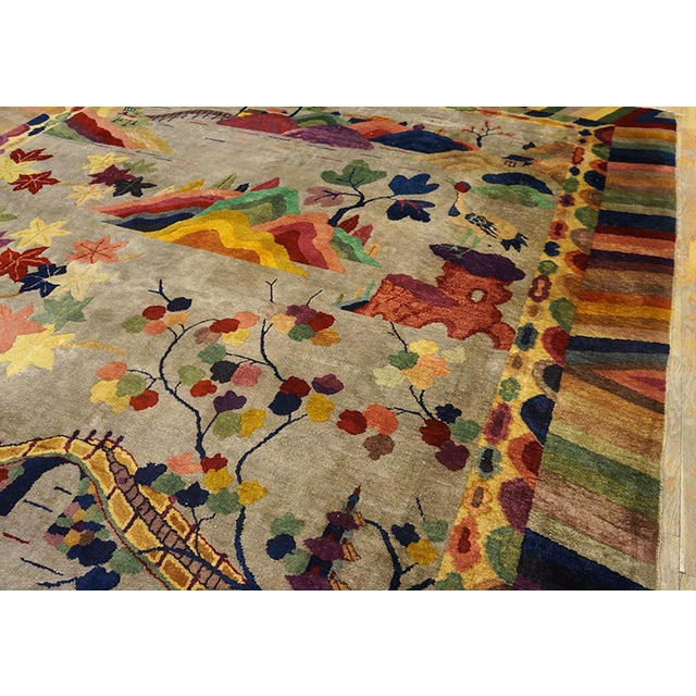 1920s Chinese Art Deco Rug For Sale - Image 5 of 6