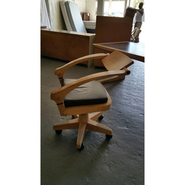 Tan Post Modern Italian Massimo Scolari Giorgetti Desk & Chair For Sale - Image 8 of 9