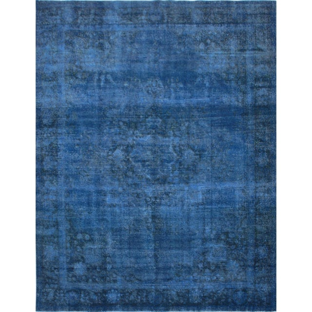 "Blue Vintage Overdyed Rug - 9'7"" X 12'7"" - Image 1 of 3"