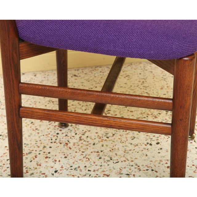 Set of 4 Eva & Nils Koppel Mid-Century Modern Fumed Oak Dining Chairs For Sale In Miami - Image 6 of 8
