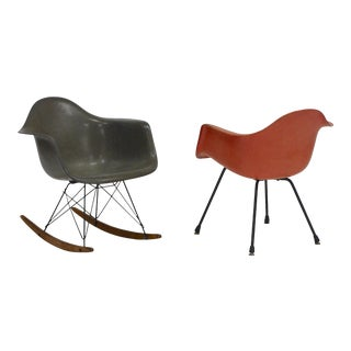Iconic Rocker and Lounge Chair by Charles Eames for Zenith Plastics For Sale