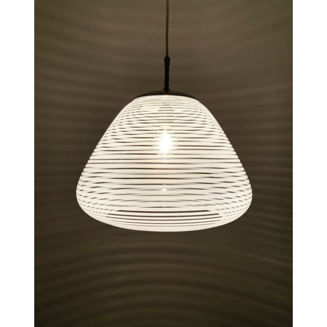 Wilhelm Wagenfeld Mid-Century Modern Glass Pendant Lamp by Wilhelm Wagenfeld for Peill and Putzler For Sale - Image 4 of 8