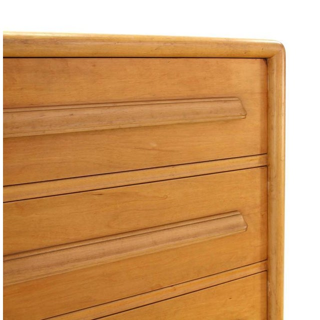 Brown Deep Drawers Heavily Custom Built File Cabinet For Sale - Image 8 of 9