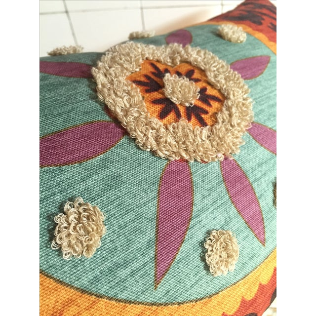 Bohemian Embroidered Orange Pillow Cover - Image 9 of 9