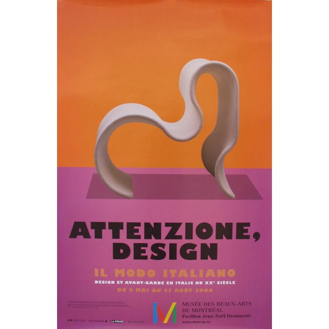 2006 Italian Design Exhibition Poster For Sale