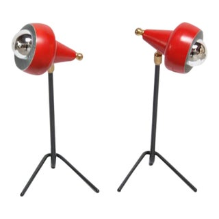 Pair of Petite Italian Table Lamps or Wall Sconces For Sale