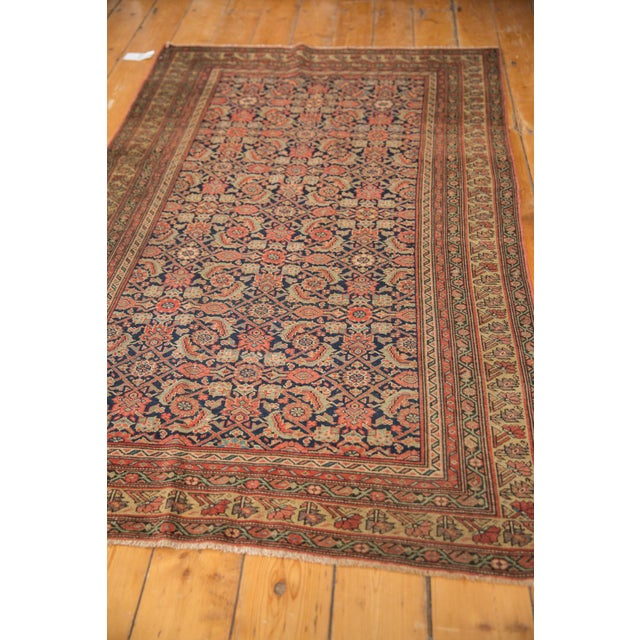 "Textile Antique Mission Malayer Rug - 3'8"" X 5'11"" For Sale - Image 7 of 12"