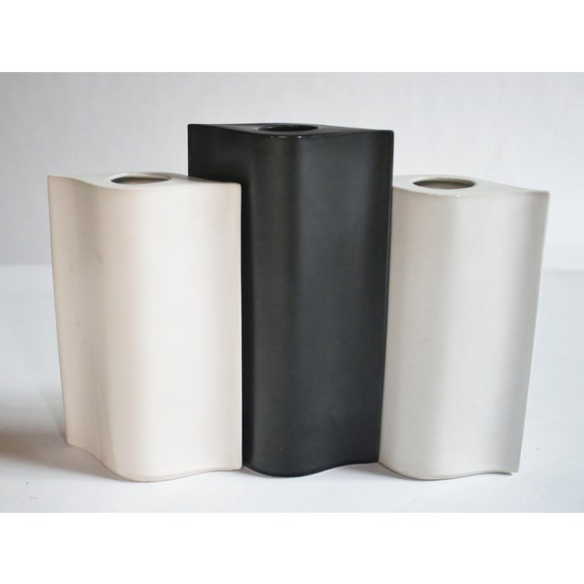 Ceramic Mikasa La Ronda Alba Vases, Set of 3 For Sale - Image 7 of 7