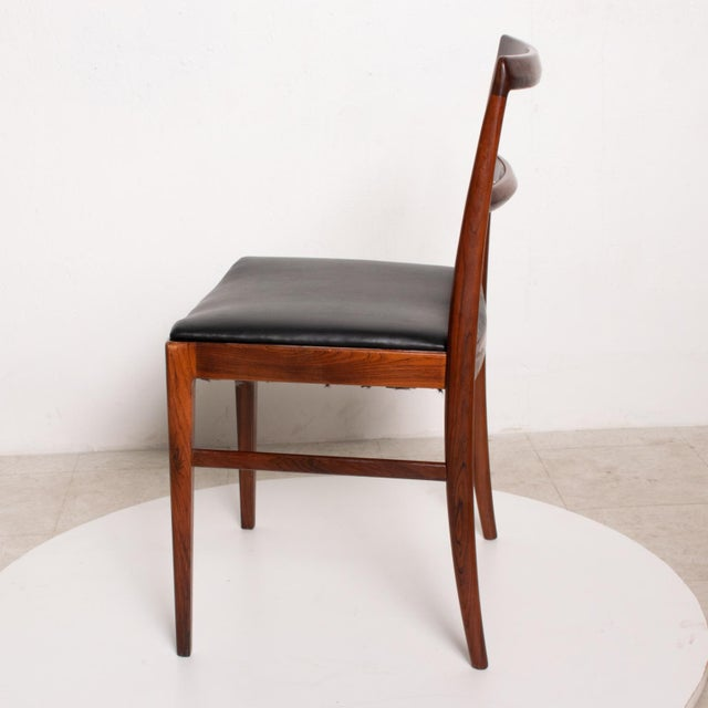 1960s Mid Century Danish Modern Set of 6 Dining Chairs by Arne Vodder for Sibast 430 For Sale - Image 5 of 11