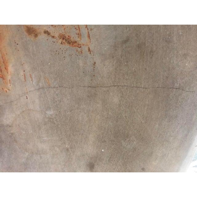 Modern Cast Stone Concrete Faux Bois Demilune Console Table For Sale In San Francisco - Image 6 of 9