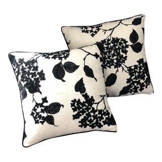Custom Ralph Lauren Embroidered Throw Pillows - A Pair