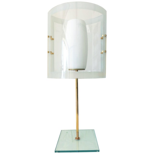 Gold Italian Beveled Table Lamp For Sale - Image 8 of 8