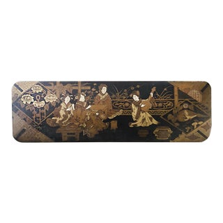 Antique 19th Century Chinese Lacquer Glove Box For Sale