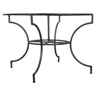 French Vintage Iron Garden Table Base For Sale