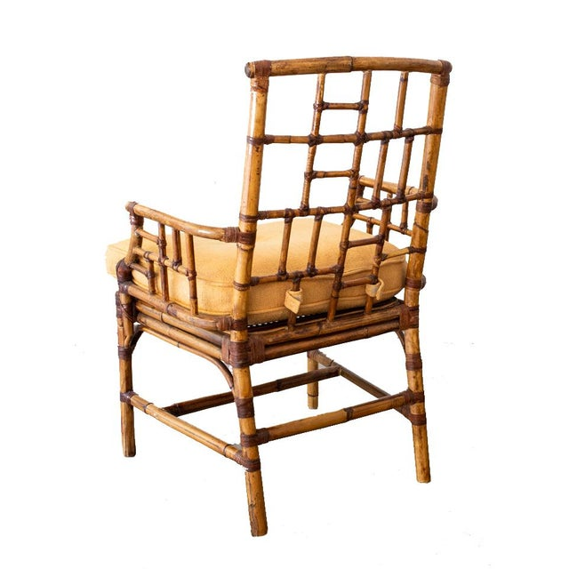 McGuire McGuire Bamboo Side Chairs- a Pair For Sale - Image 4 of 12