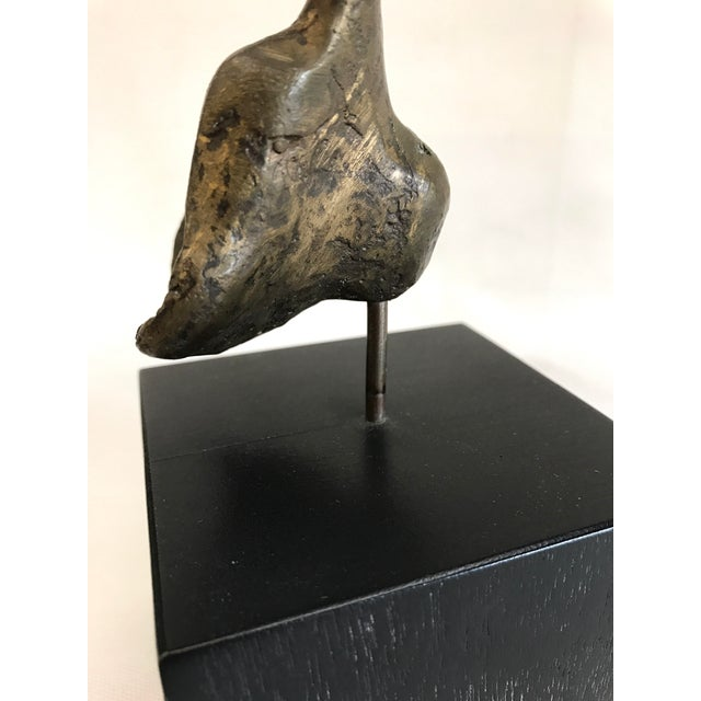 Abstract Bronze Sculpture on Wood Base - Image 6 of 7
