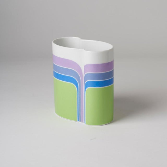 Contemporary Mid Century/Op Art Vase For Sale - Image 3 of 7