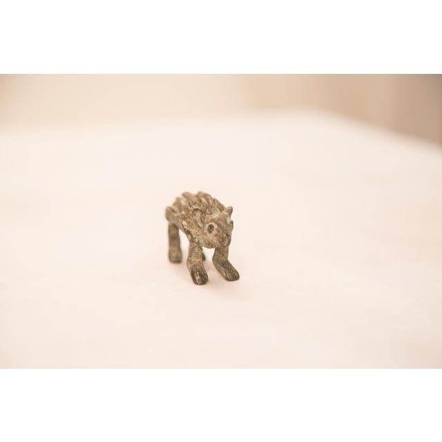 African Vintage Bronze Porcupine Figurine / Ashanti Gold Weight For Sale - Image 3 of 5
