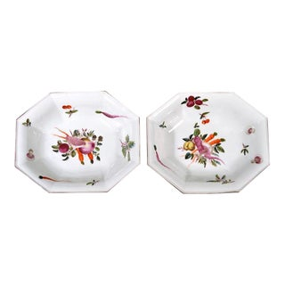 Chelsea Porcelain Dishes With Unusual Vegetable Decoration For Sale