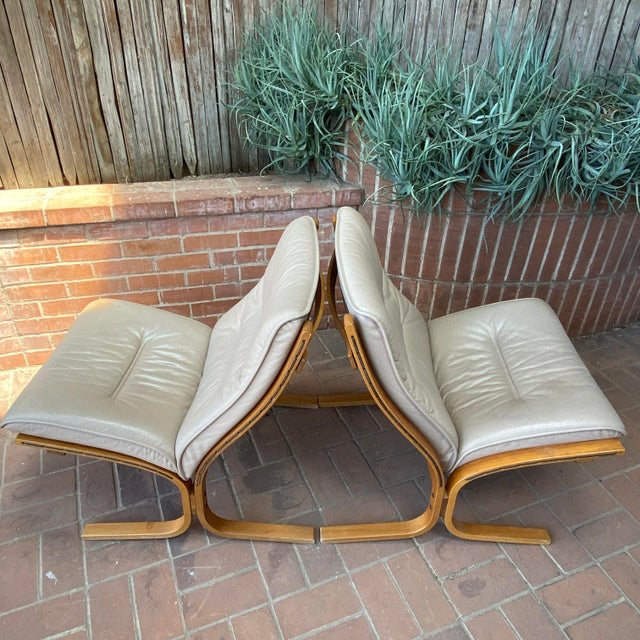 Vintage Westnofa Ingmar Relling Design Leather & Bent Wood Lounge Chairs - a Pair For Sale In Phoenix - Image 6 of 13