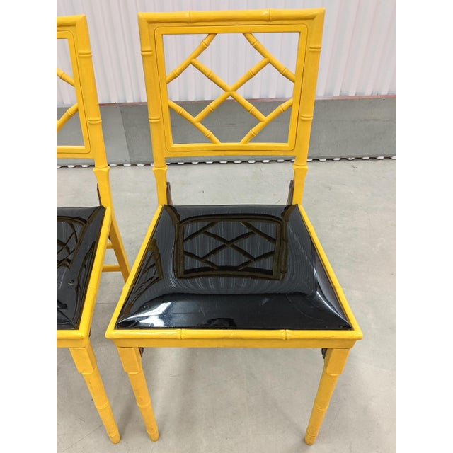 1970s 1970s Hollywood Regency Faux Bamboo Folding Chairs - a Pair For Sale - Image 5 of 11