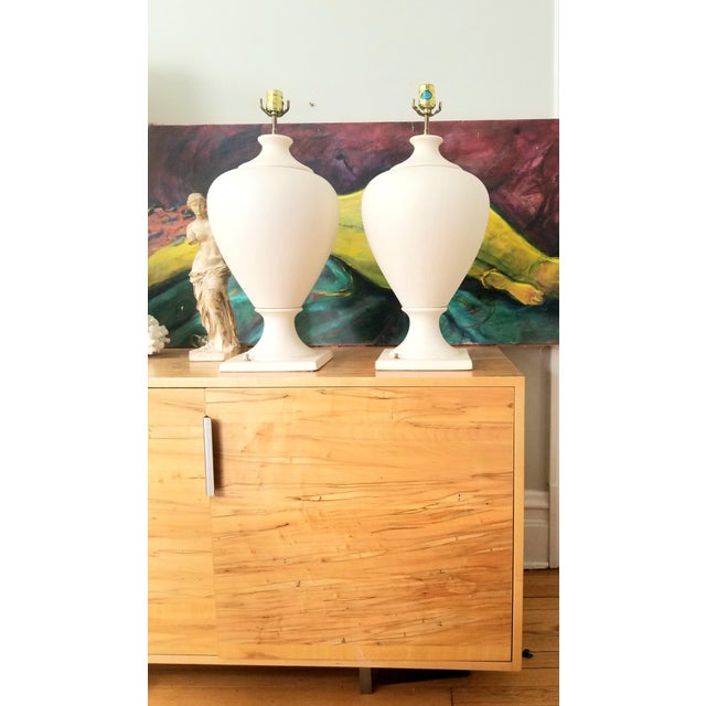 Contemporary Late 20th Century Kostka Ceramic Lamps - a Pair For Sale - Image 3 of 13