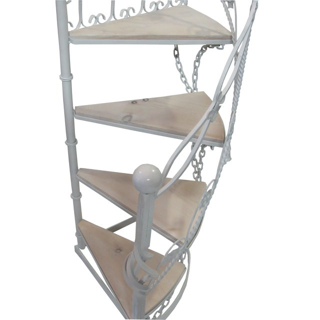 Wrought Iron Garden Staircase Planter Display For Sale - Image 4 of 9